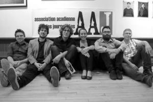 De gauche à droite: Patrick Lacelle, Mathieu Roy-Comeau, Justin Dupuis, Karine Godin, Pascal Raiche-Nogue et Jean-François Boisvert. Absente: Nadia Gaudreau