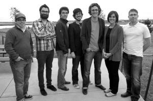 De gauche à droite : Patrick Lacelle, Pascal Raiche-Nogue, Marc-Antoine Ruest, Mathieu Roy-Comeau, Justin Dupuis, Michèle Brideau, et Jean-François Boisvert.